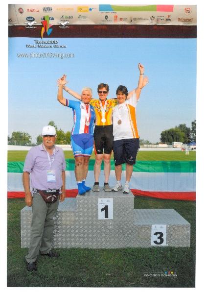 Stříbrná medaile na Olympijských hrách Masters v Itálii 2013